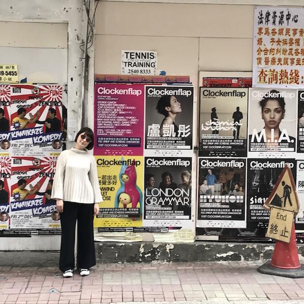 街中にもポスターがあちこちに ©奥浜レイラ