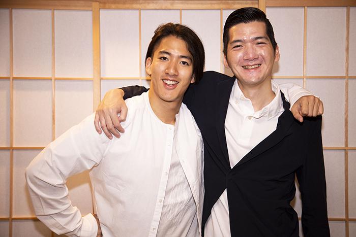 (左から)尾上右近、清元斎寿