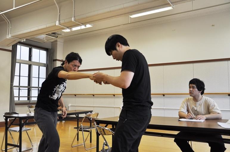 登場人物はドイツ人の設定だが、正木のみ日本人の役。ここでは日本の技を活かしてあることを…? [撮影]吉永美和子