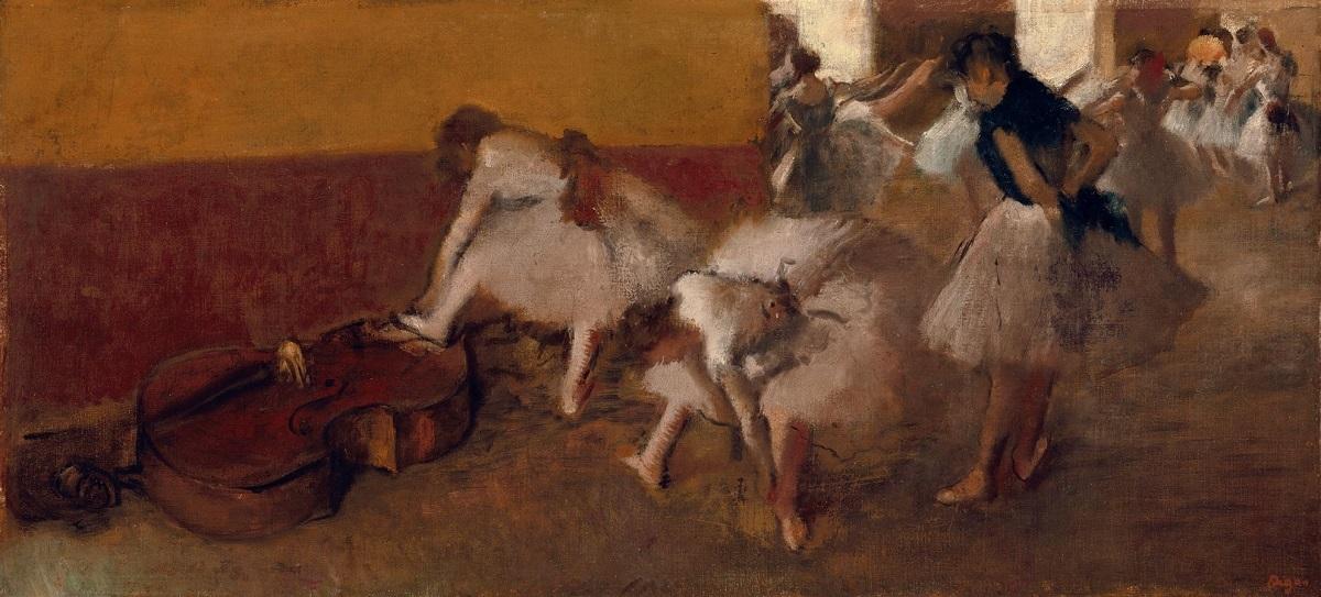 《楽屋の踊り子たち》エドガー・ドガ、1879年頃、City of Detroit Purchase
