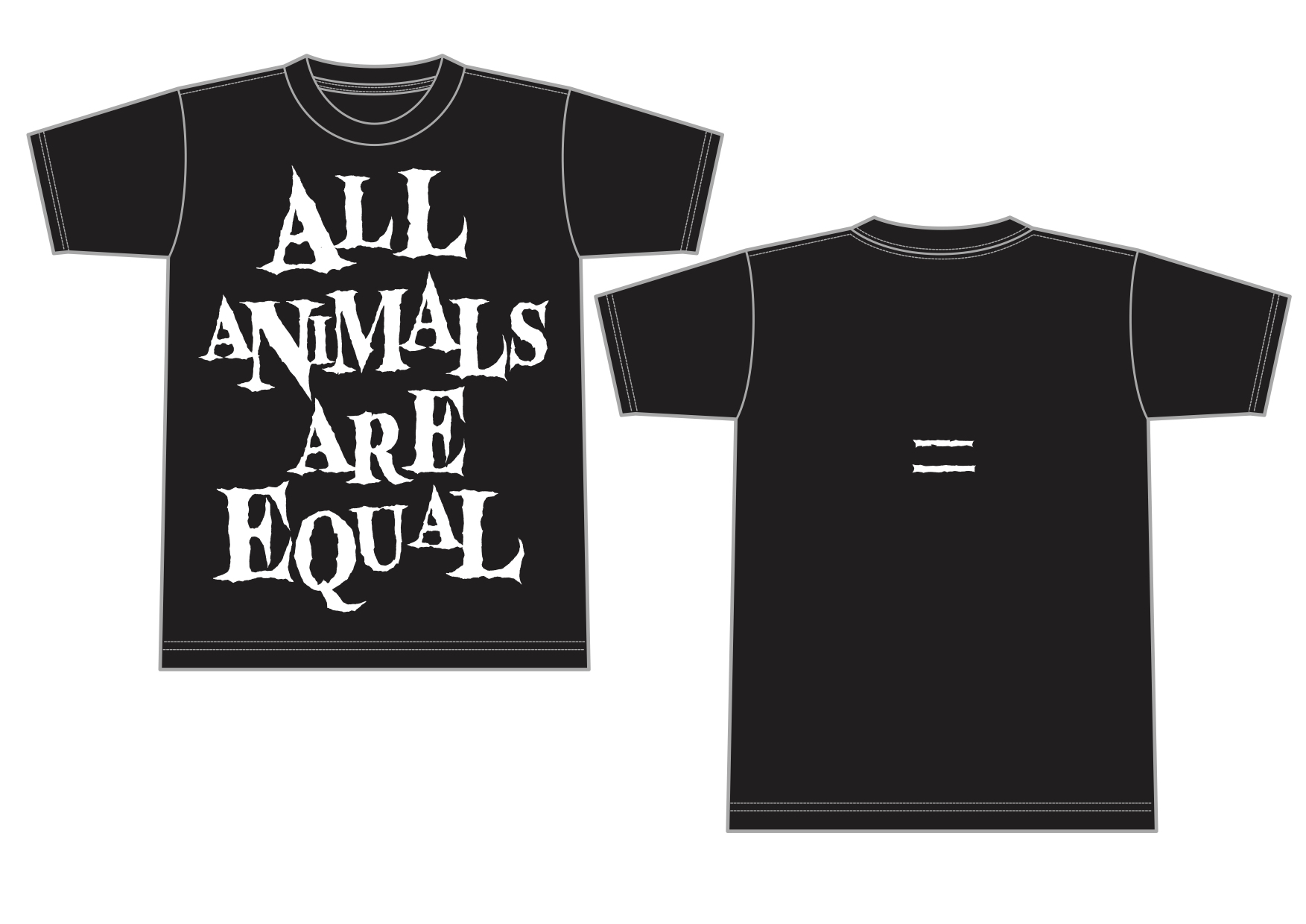 AA= OIO Special _ALL ANIMALS ARE EQUAL_ T-shirtデザイン画像