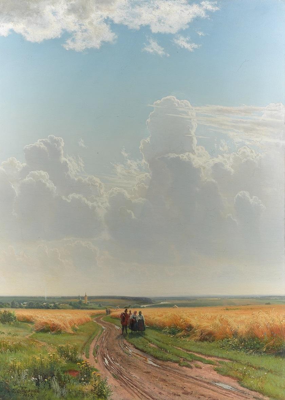 イワン・シーシキン 《正午、モスクワ郊外》 1869 年 油彩・キャンヴァス (C) The State Tretyakov Gallery