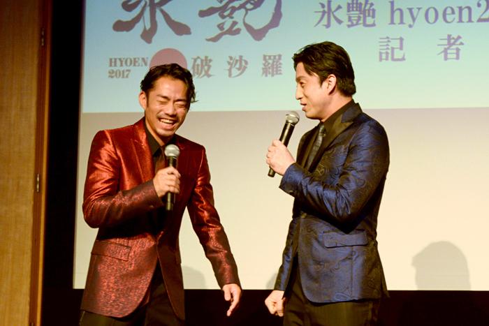 (左から)髙橋大輔、市川染五郎