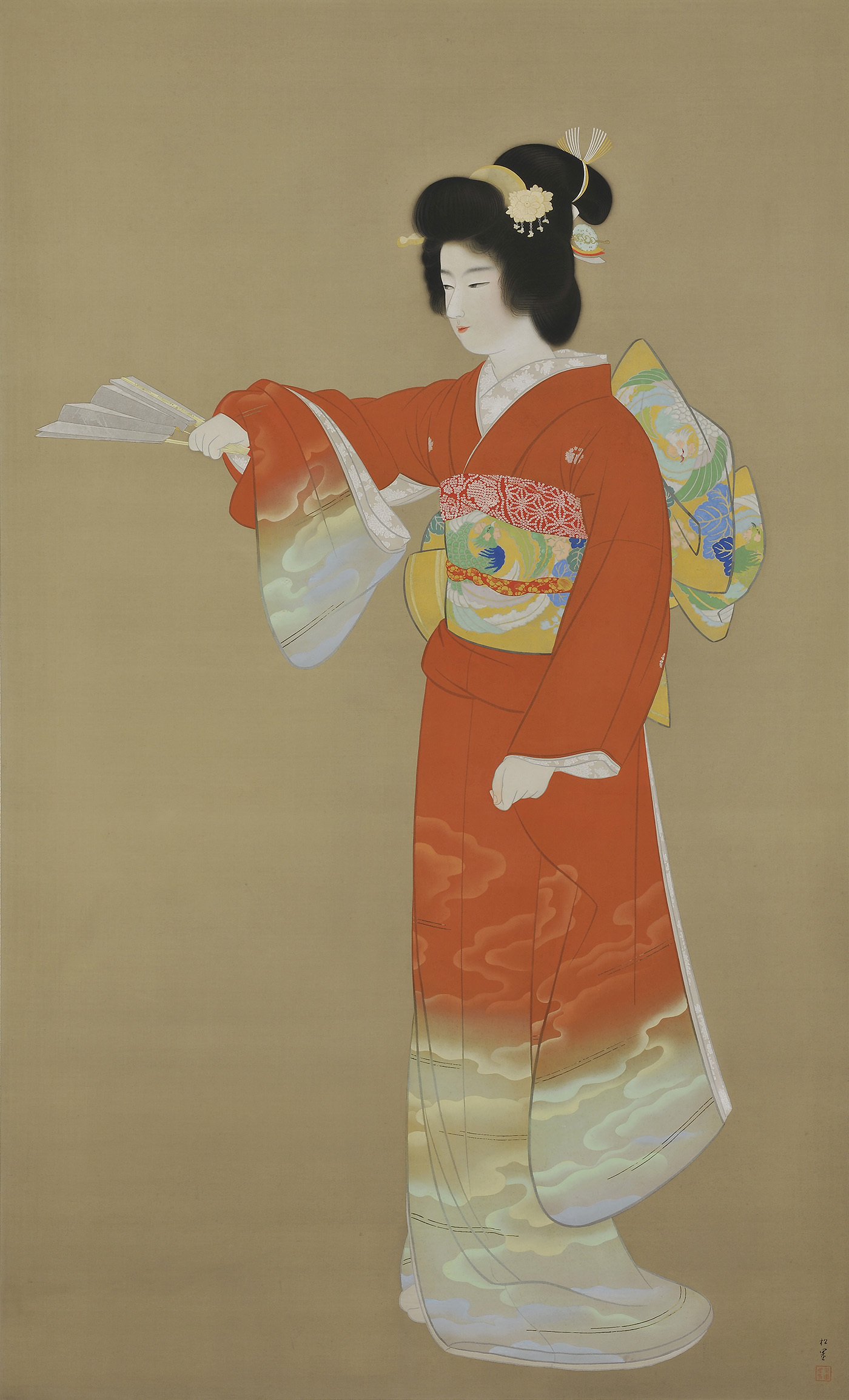 上村松園《序の舞》重要文化財 昭和11年(1936) 300.0×209.0 東京藝術大学蔵