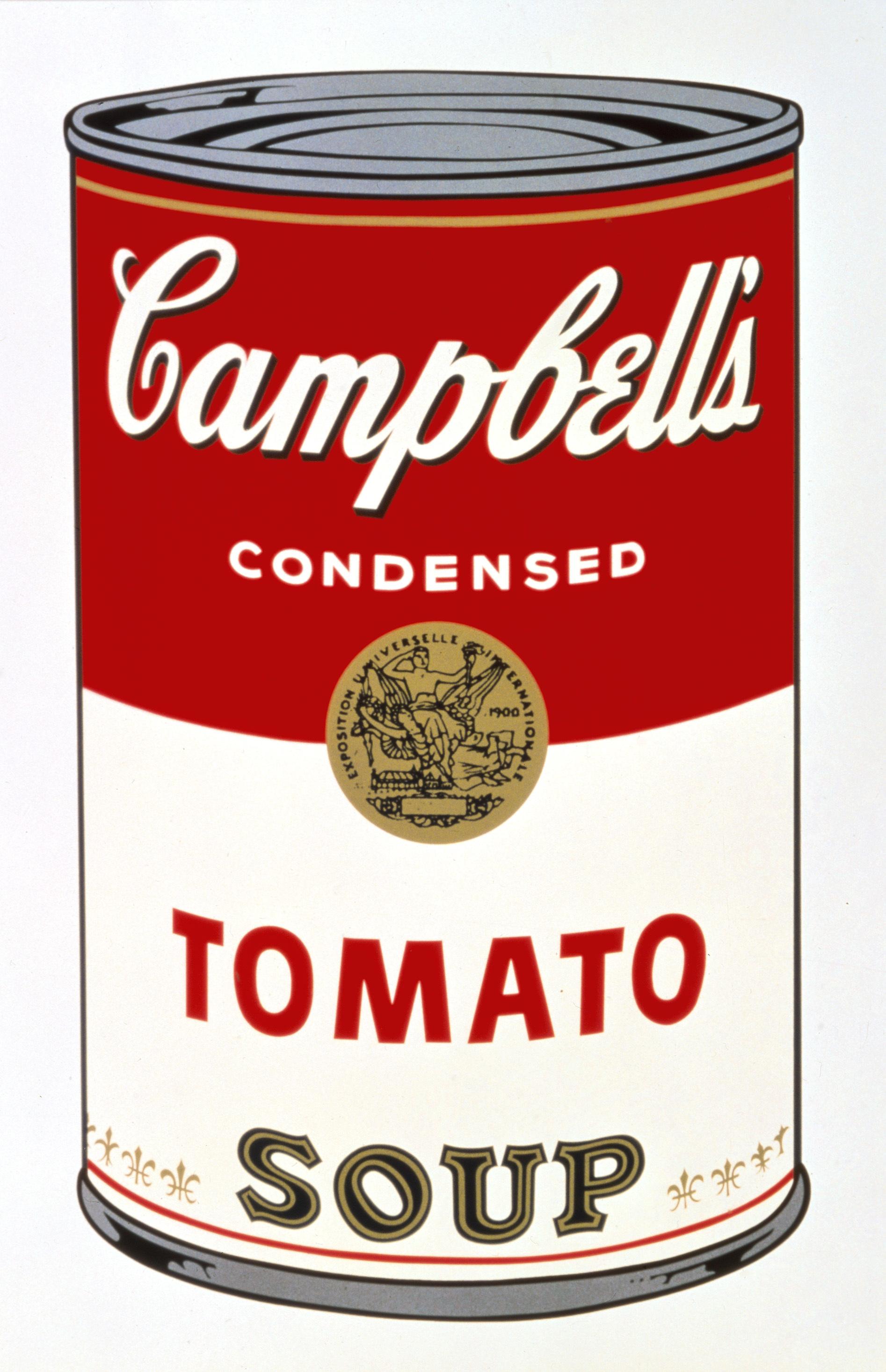 アンディ・ウォーホル 《キャンベル・スープ缶 I:トマト》 1968 年 アンディ・ウォーホル美術館蔵 (C)The Andy Warhol Foundation for the Visual Arts, Inc. / Artists Rights Society (ARS), New York