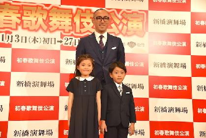 市川海老蔵、親子三人で初共演へ 新橋演舞場『初春歌舞伎公演』会見レポート