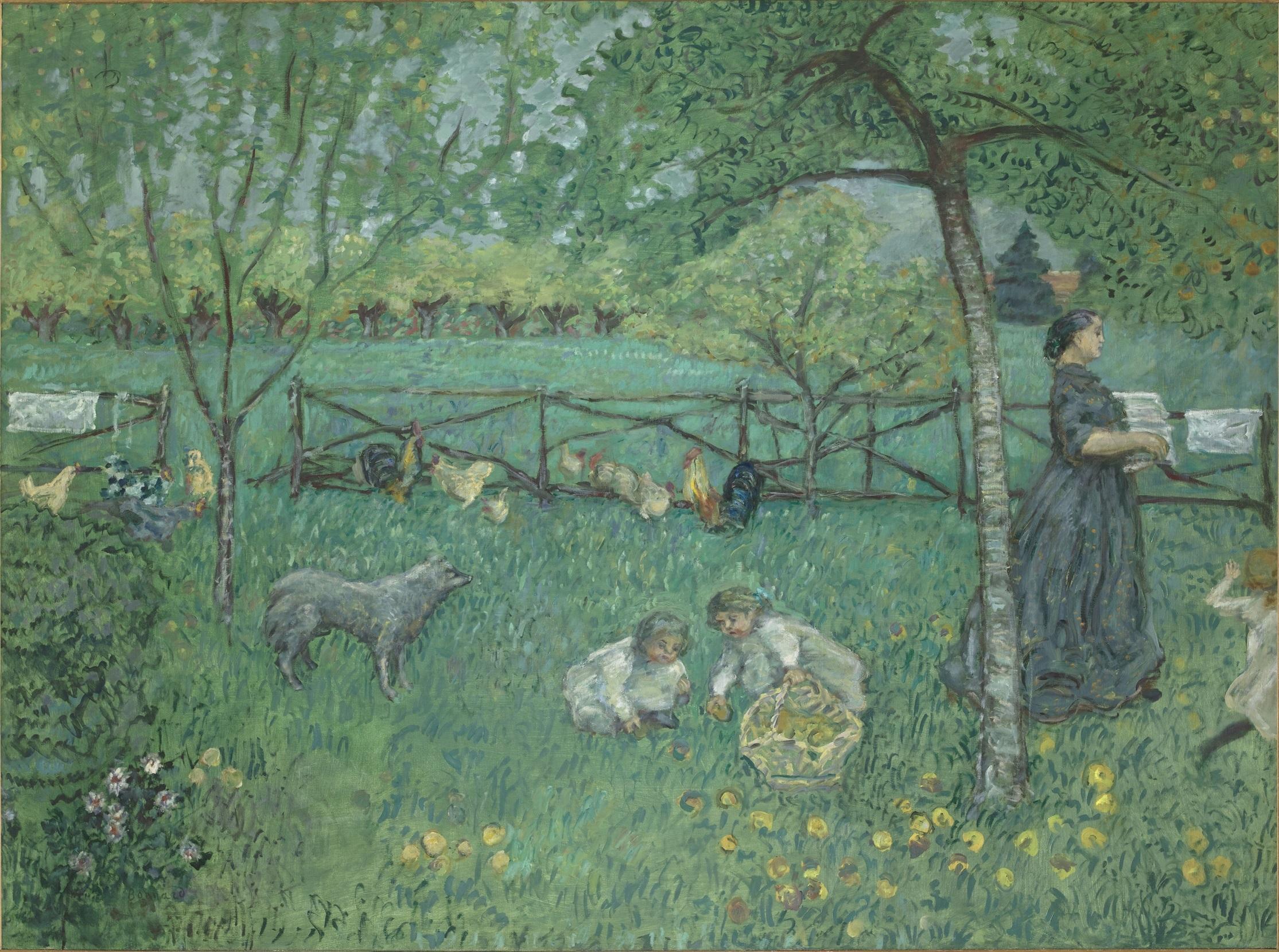 ピエール・ボナール《大きな庭》1895年 油彩、カンヴァス 168×221 cm オルセー美術館   (C)RMN-Grand Palais (musée d'Orsay) / Hervé Lewandowski / distributed by AMF