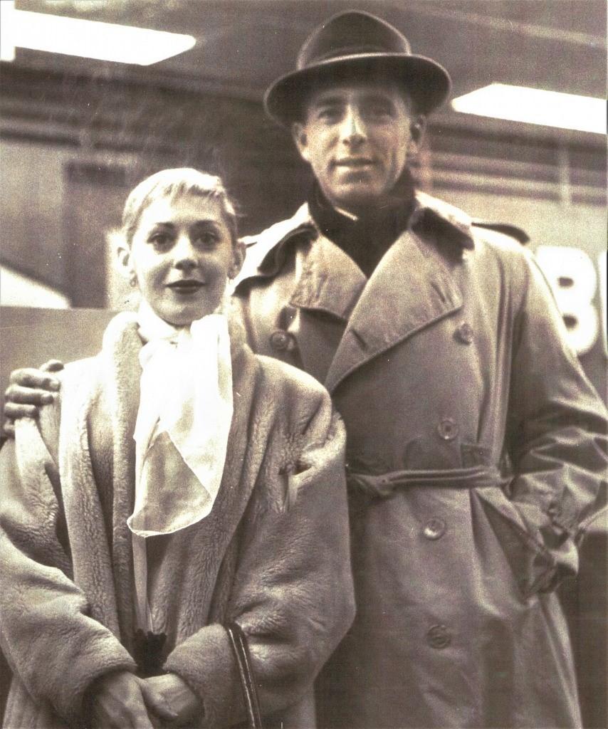 ジェローム・ロビンス(右)とリー(1950年代) Photo Courtesy of Sondra Lee