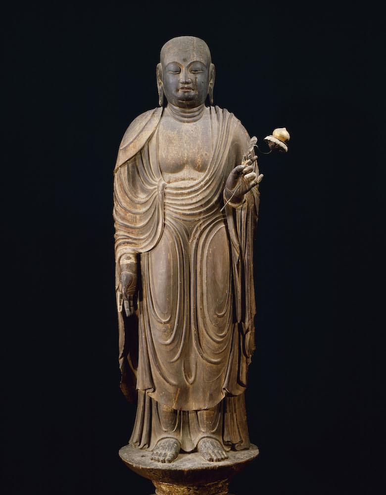 国宝 地蔵菩薩立像 平安時代・9世紀 奈良・法隆寺蔵