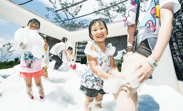 「泡キューブ」では小さなお子様も安心して泡を楽しめます