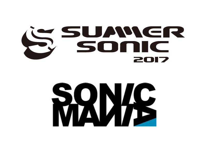SUMMER SONIC 2017ロゴ、SONIC MANIAロゴ