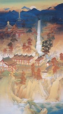 山口蓬春《三熊野の那智の御山》大正15年 宮内庁三の丸尚蔵館蔵