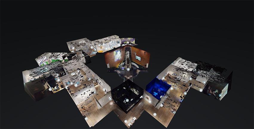 『未来と芸術展』3Dウォークスルー イメージ