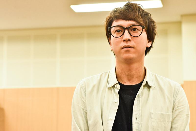 『End of the RAINBOW』稽古場より 寺元健一郎(photo:原地達浩)