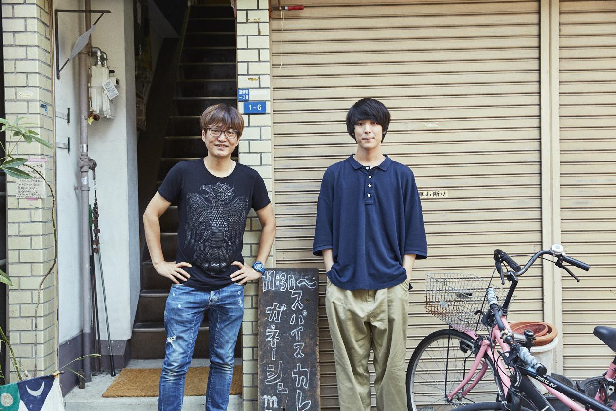 左:西田新(FM802 DJ )右:井上竜馬(SHE'S)