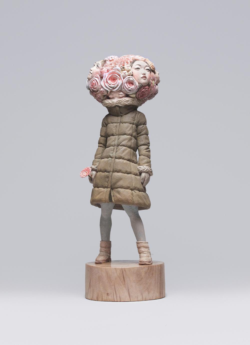 FUMA Contemporary Tokyo | 文京アート 金巻芳俊 春巡ヴァニタス 2016年 楠 62×20×20 cm