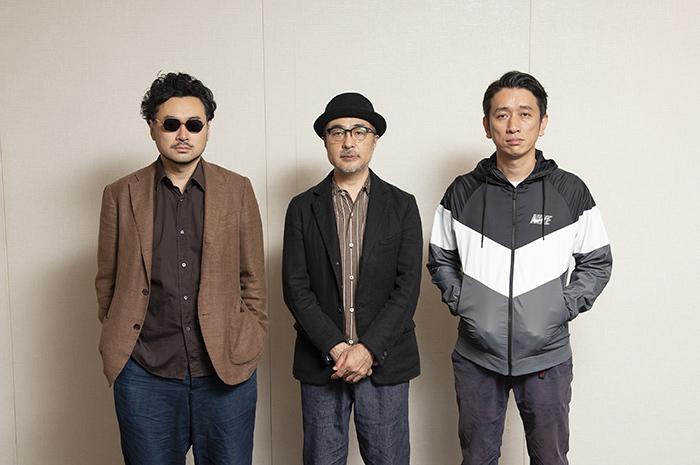 (左から)前野健太、松尾スズキ、岩井秀人