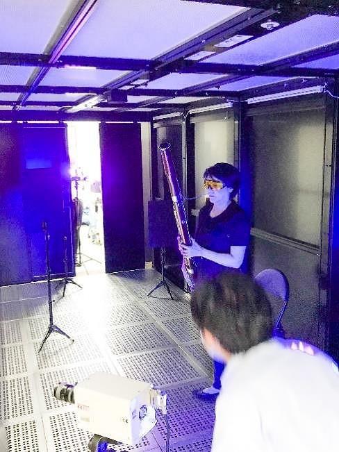 飛沫検証実験 クリーンルームでの模様