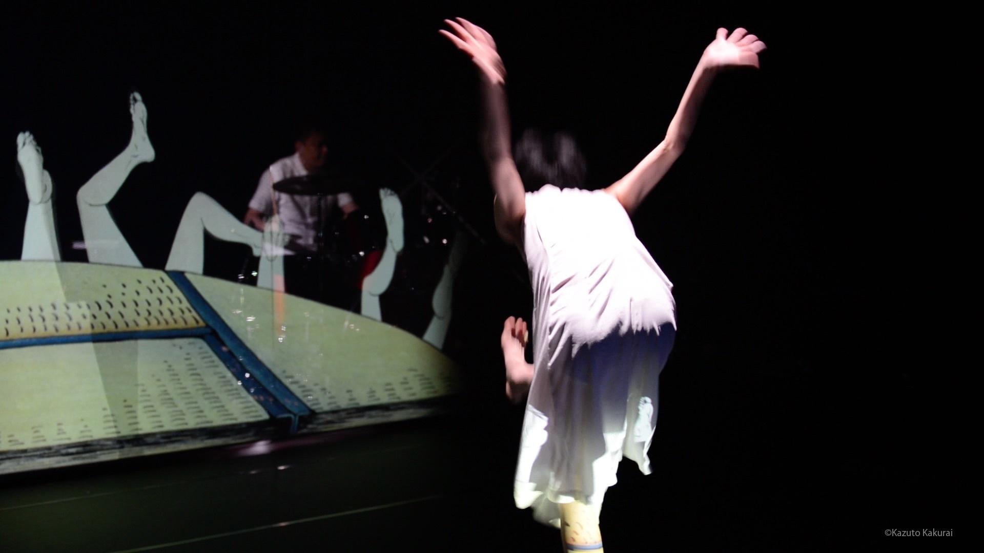 映像芝居『錆からでた実』ショーイング風景@城崎国際アートセンター ©Kazuto Kakurai