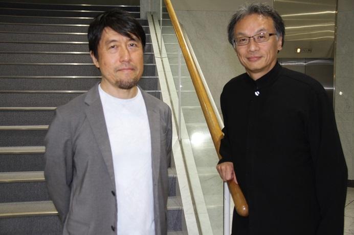 みつなかオペラといえばこのお二人。演出の井原広樹と指揮者 牧村邦彦 (C)H.isojima
