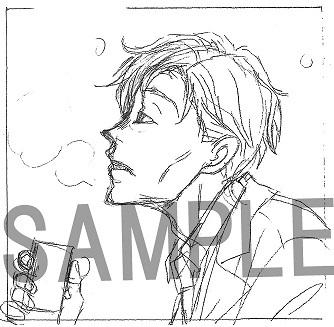 3巻:羽海野チカ氏描き下ろし島田八段のオフショットキャンバスイラストカード