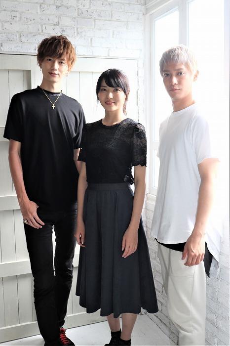 (左から)小野健斗、矢島舞美、味方良介