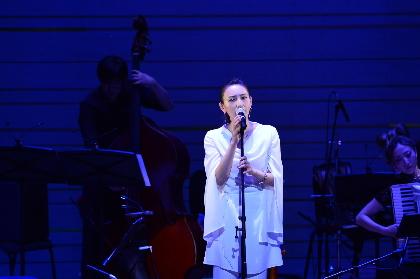 大空ゆうひ、初のシャンソンコンサートは宝塚出身の大先輩・越路吹雪さんにならい「愛の賛歌」でスタート
