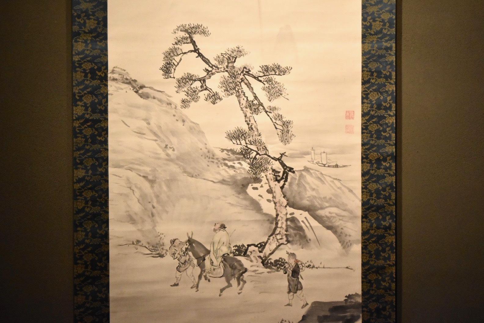「山中乗馬図」(部分) 円山応挙 東京藝術大学所蔵