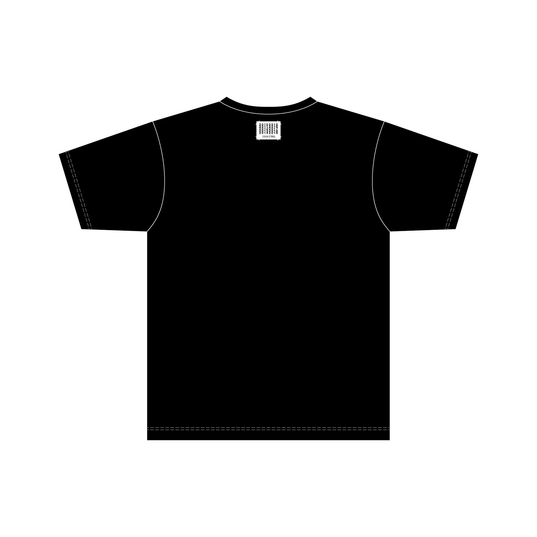 「ベストアルバム発売記念グッズ」Tシャツ(ブラック)Back