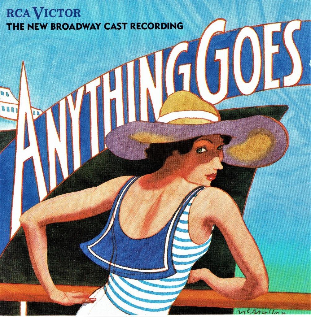 『エニシング・ゴーズ』リバイバル版(1987年)のオリジナル・キャストCD。ポーター楽曲の再評価に繋がったアルバムだ(輸入盤)。
