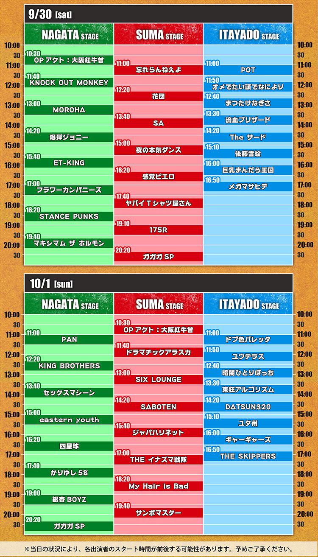 『長田大行進曲2017』タイムテーブル
