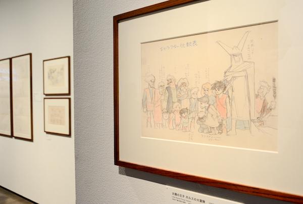 「太陽の王子 ホルスの大冒険」展示風景 (C)東映
