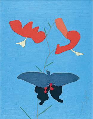 熊谷守一 《鬼百合に揚羽蝶》 1959年 東京国立近代美術館