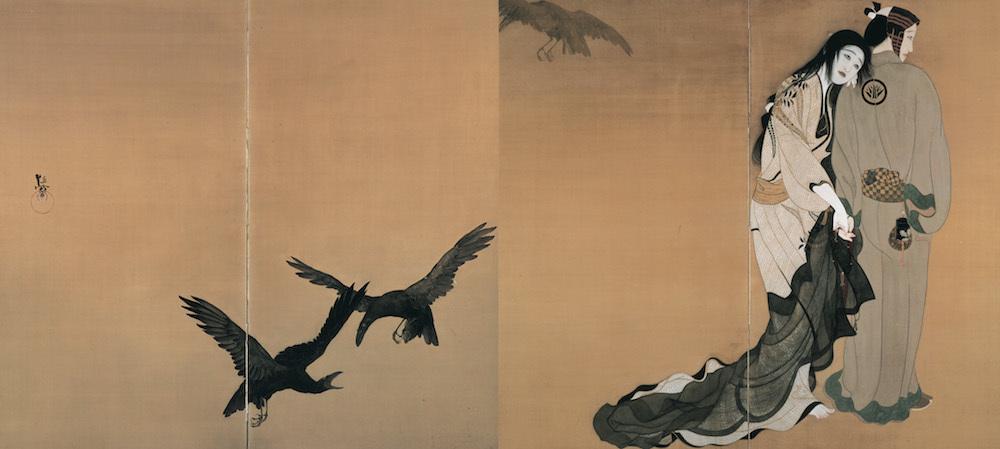 北野恒富《道行》大正2年頃、福富太郎コレクション、2週間展示
