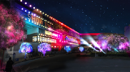 所沢駅前がミュージカルのステージに! ネイキッドの華やかなショー演出で、街全体を活性化