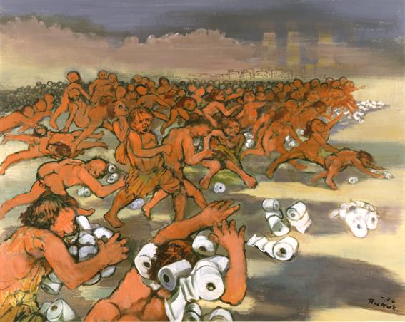 《トイレット・ペーパー地獄》 1974年 群馬県立近代美術館蔵