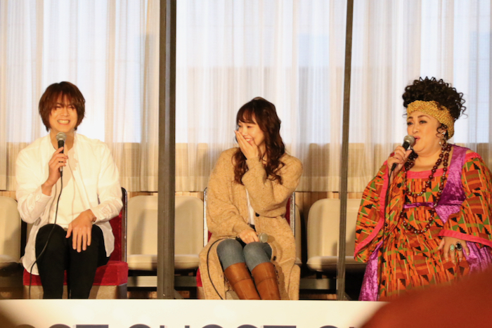 (左から)浦井健治、咲妃みゆ、森公美子