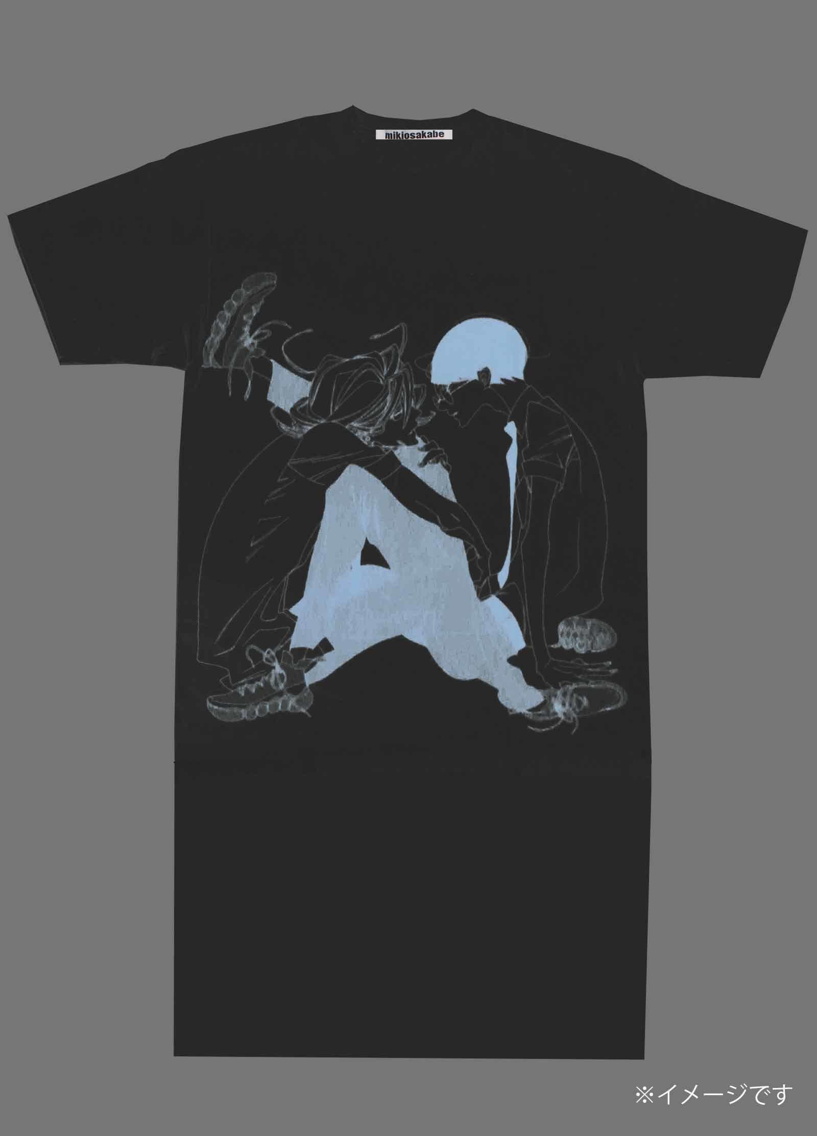 『プリントロングワンピースTシャツ』