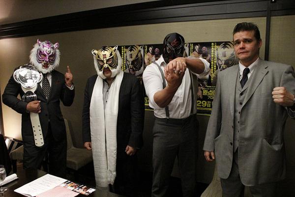 3月29日開催の『原点回帰』プロレスについて22日、全カード発表会見が行われた