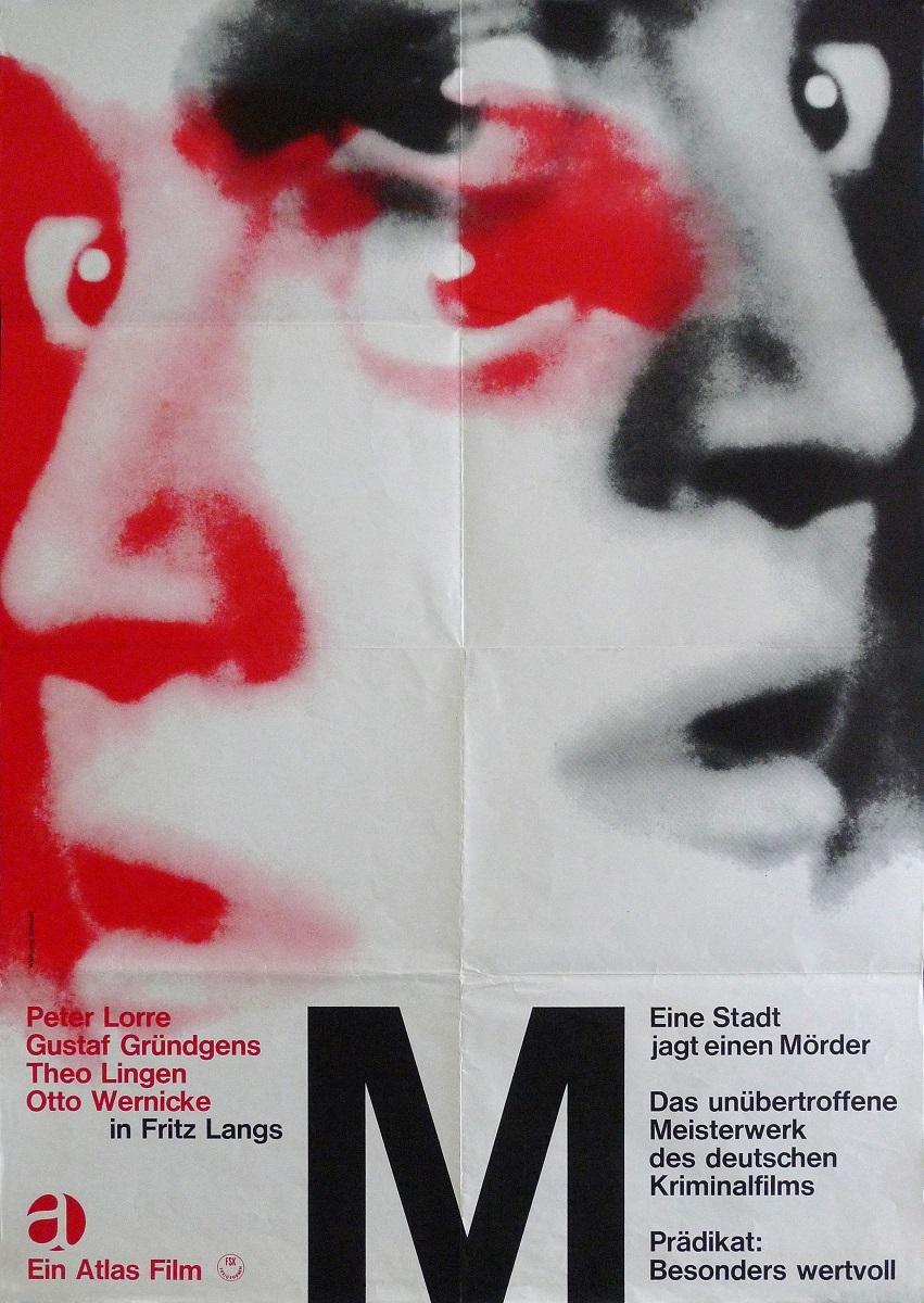 『M』(1931 年/ドイツ/フリッツ・ラング監督) ポスター:ヴォルフガンク・シュミット(1966 年) ドイツ映画研究所所蔵