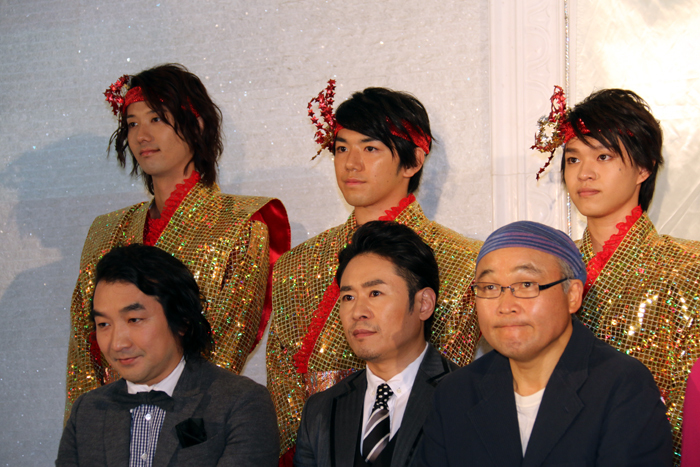 マモリ鯛にもご注目ください! 左から塩川渉、月岡弘一、枡井賢斗