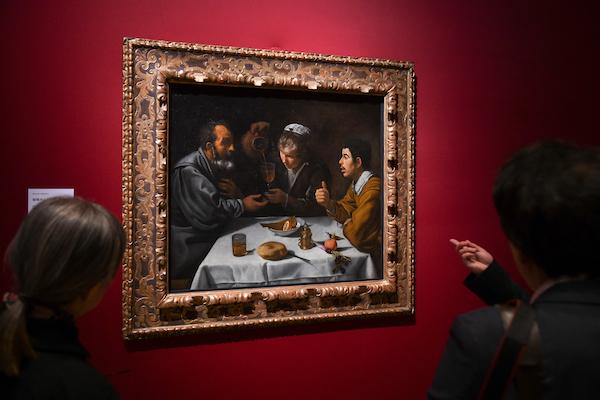 ディエゴ・ベラスケス《宿屋のふたりの男と少女》 1618年/19年頃 ブダペスト国立西洋美術館