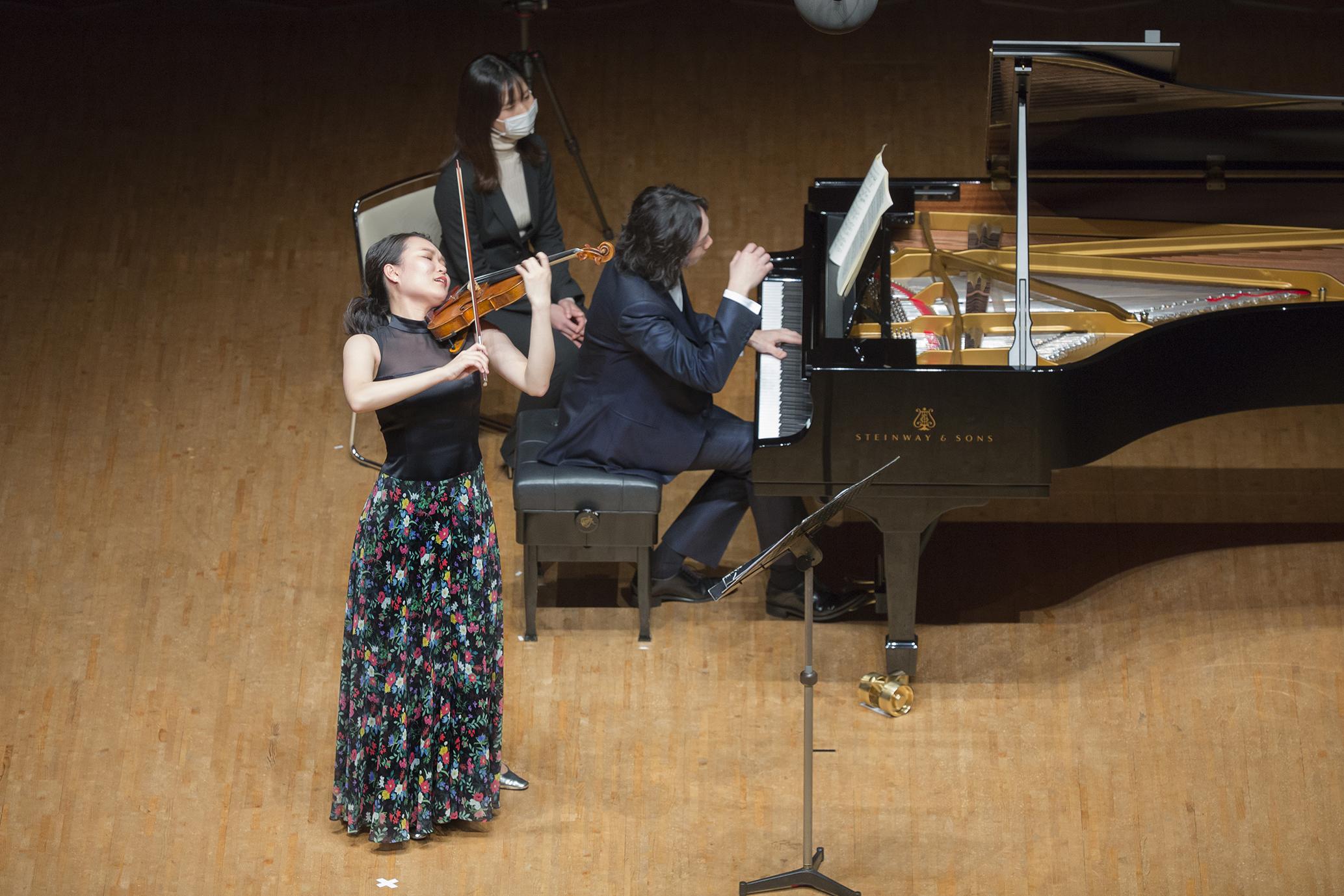 この日のメインプログラムは、フランクのヴァイオリンソナタ。 (2021.3 紀尾井ホール)   (c) Hikaru Hoshi
