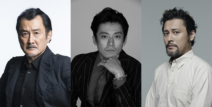 (左から)吉田鋼太郎、 小栗 旬、 横田栄司 提供:ホリプロ