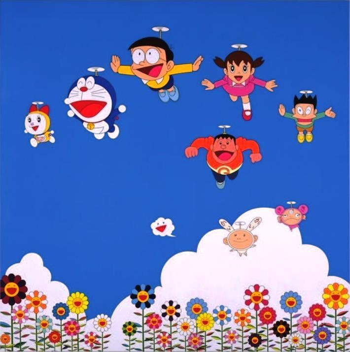 前回「THE ドラえもん展」村上隆さん出展作品 「ぼくと弟とドラえもんとの夏休み」(2002年)