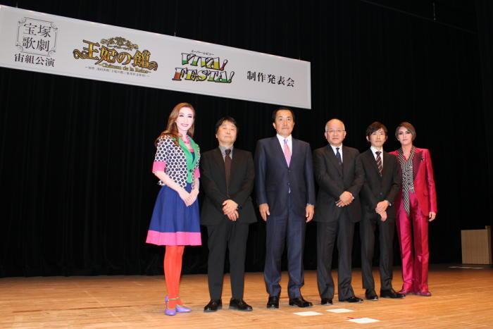 左から実咲凛音、中村暁、小川友次、浅田次郎、田渕大輔、朝夏まなと