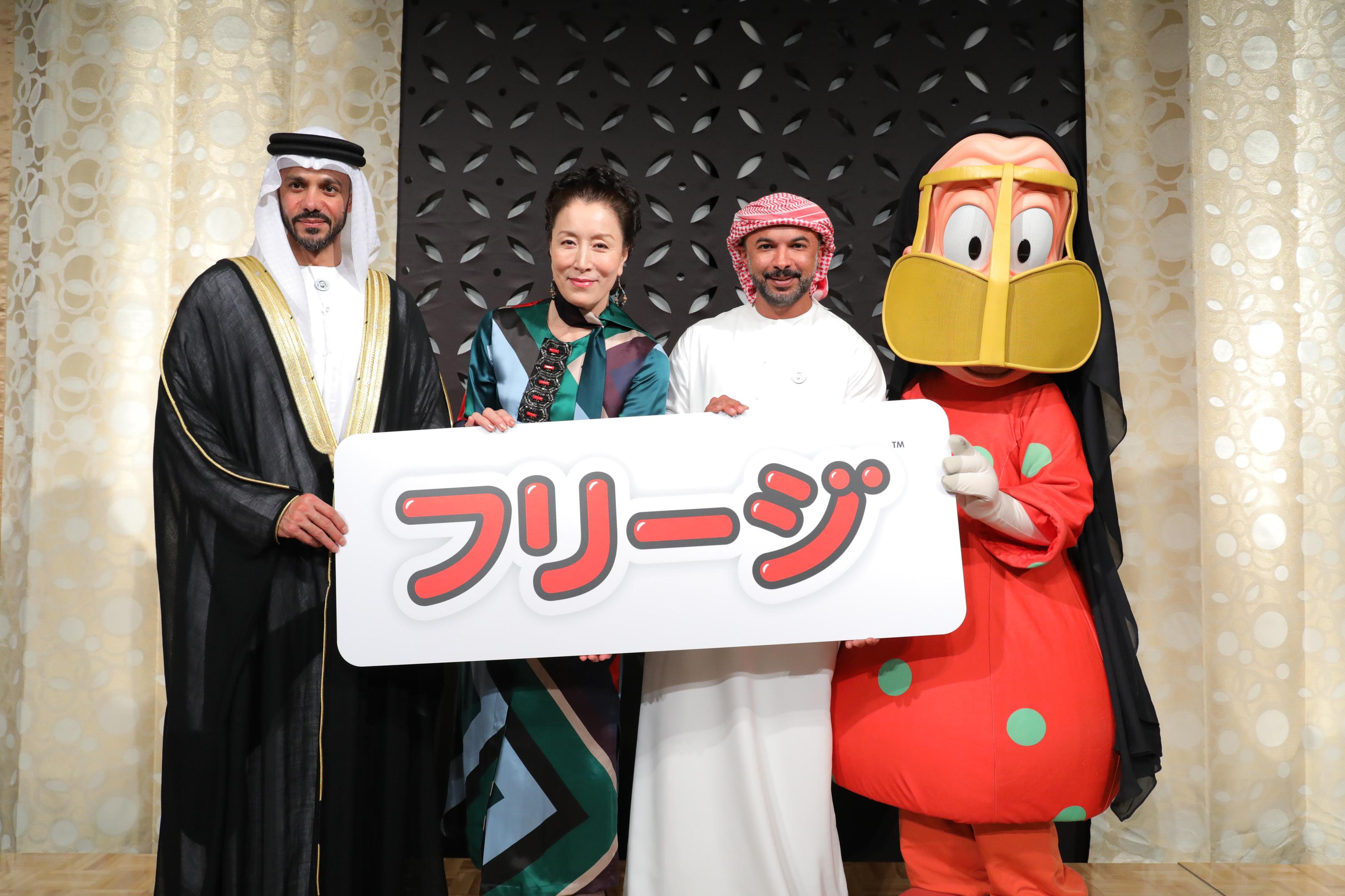 左から カリド・オムラン・スカイット・サルハン・アルアメリ閣下、高畑淳子、モハメド・サイード・ハリブ監督、ウム・サイード