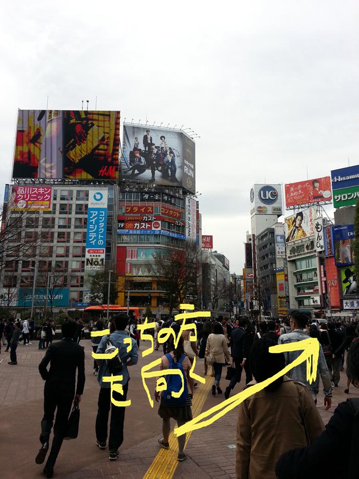 渋谷駅ハチ公口を出たらこんな感じ
