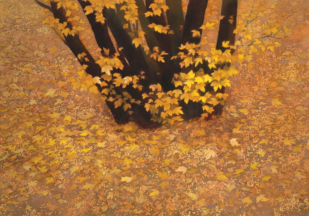 《行く秋》1990年、東山魁夷、長野県信濃美術館 東山魁夷館蔵