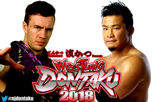 4日のセミファイナルは、現王者のウィル・オスプレイ(左)とKUSHIDAによる「IWGPジュニアヘビー級選手権試合」